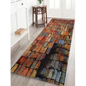 Colorful Brick Print Anti-skid Water Absorption Area Rug - Brick-red - W24 Inch * L71 Inch