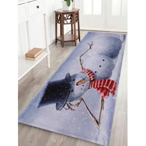 Lying Snowman Print Anti-skid Water Absorption Area Rug