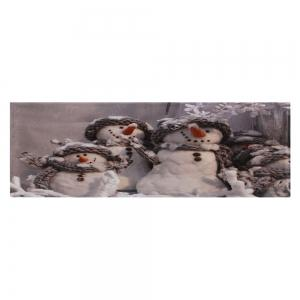 Winter Snowmen Print Anti-skid Water Absorption Area Rug -
