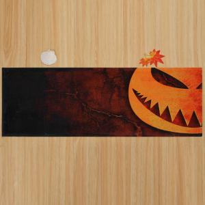 Halloween Pumpkin Print Anti Slip Indoor Outdoor Area Rug - MANDARIN W16 INCH * L47 INCH