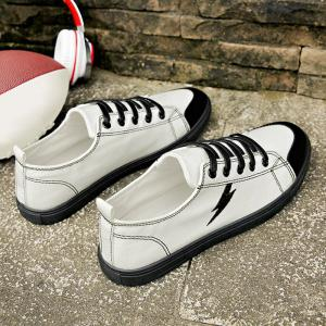 The Flash Lightning Canvas Sneakers - WHITE 43