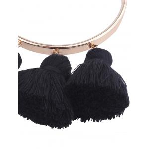 Alloy Tassel Cuff Charm Bangle Bracelet -