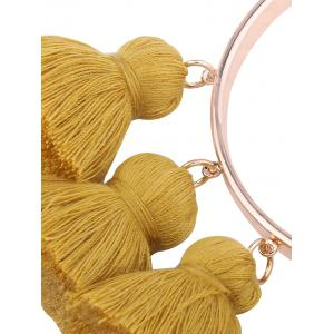 Alloy Tassel Cuff Charm Bangle Bracelet - GINGER