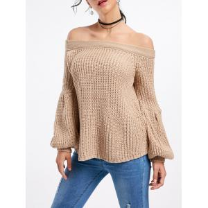 Bell Sleeve Off The Shoulder Sweater