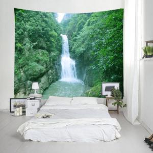 Mountain Waterfall Print Tapestry Wall Hanging Art Décoration -