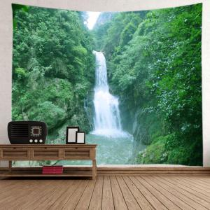 Mountain Waterfall Print Tapestry Wall Hanging Art Decoration -