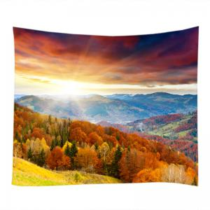 Sun Moutains View Print Tapestry Wall Hanging Art Décoration -