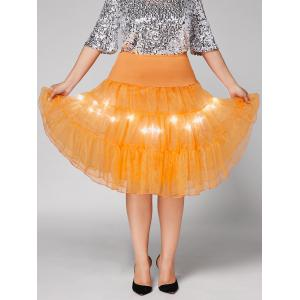 Plus Size Cosplay Light Up Party Skirt