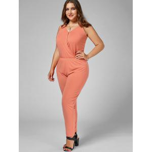Plus Size Cami Jumpsuit - ORANGE 2XL