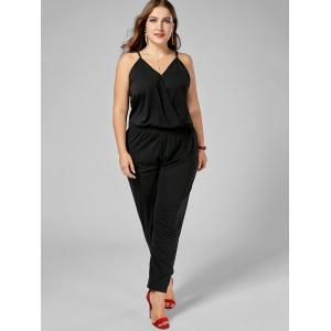 Plus Size Cami Jumpsuit - BLACK 6XL