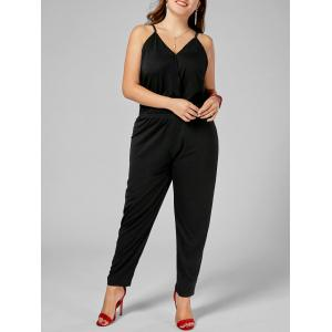 Plus Size Cami Jumpsuit - Black - 2xl