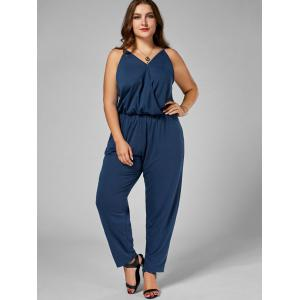 Plus Size Cami Jumpsuit - CADETBLUE 3XL