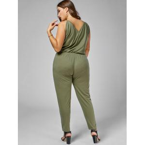 Plus Size Cami Jumpsuit - ARMY GREEN 3XL
