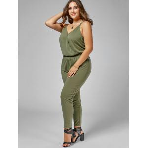 Plus Size Cami Jumpsuit - ARMY GREEN 4XL