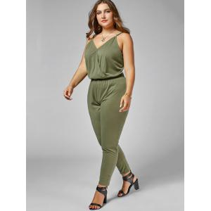 Plus Size Cami Jumpsuit - ARMY GREEN 5XL