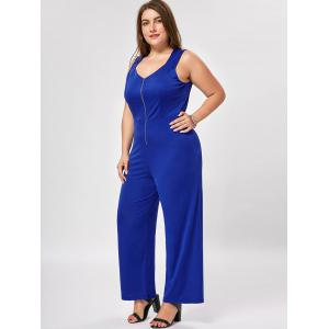Plus Size Sleeveless Palazzo Jumpsuit -