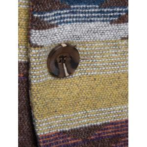 Lapel One Button Tweed Blazer - COFFEE L