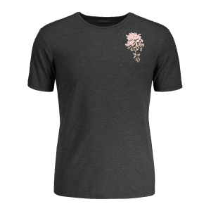 Tropical Flower Print T-shirt -