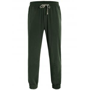 Drawstring Jogger Pants - Army Green - L