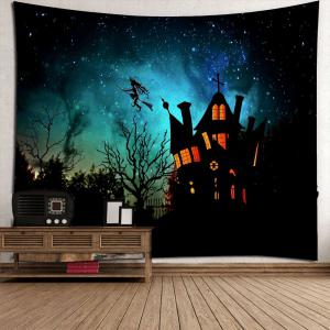 Waterproof Halloween Witch Printed Wall Hanging Tapestry - BLACK W79 INCH * L79 INCH
