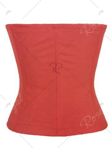 Latest Steel Boned Waist Corset - 2XL RED Mobile