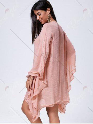 New Lace Up Batwing Sleeve Oversized Kaftan Dress - M CAMEO Mobile
