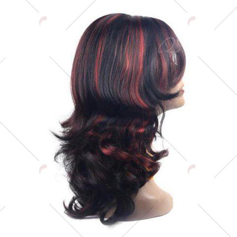 Cheap Center Parting Long Highlight Wavy Synthetic Wig - COLORMIX  Mobile