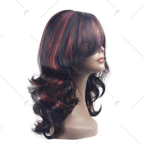 Store Center Parting Long Highlight Wavy Synthetic Wig - COLORMIX  Mobile