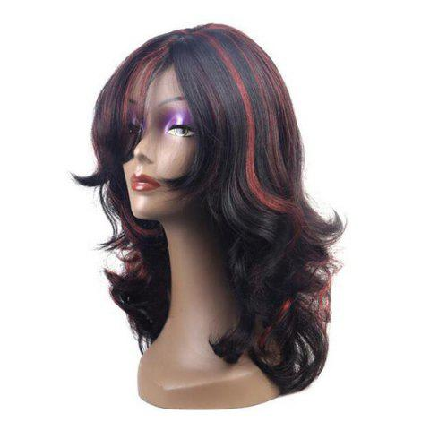New Center Parting Long Highlight Wavy Synthetic Wig - COLORMIX  Mobile
