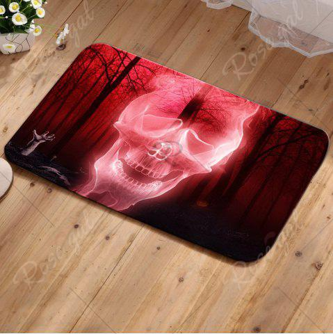 Online Halloween Forest Skull Antiskid Carpet - W20 INCH * L31.5 INCH WATER RED Mobile
