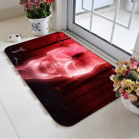 Outfit Halloween Forest Skull Antiskid Carpet - W20 INCH * L31.5 INCH WATER RED Mobile