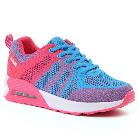 Fashion Air Cushion Color Block Breathable Athletic Shoes BLUE AND PINK 39