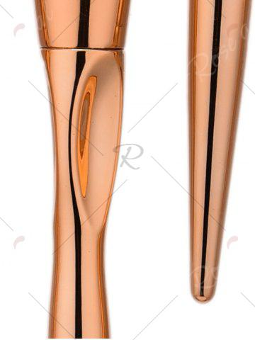 Affordable Concave Tapered Makeup Brushes Set With Stripes Bag - ROSE GOLD  Mobile