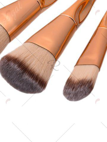 Latest Concave Tapered Makeup Brushes Set With Stripes Bag - ROSE GOLD  Mobile