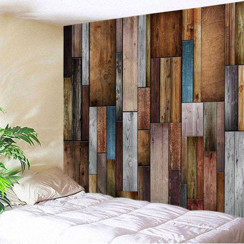Vintage Wood Texture Throw Wall Art Tapestry - Colormix - W71 Inch * L91 Inch