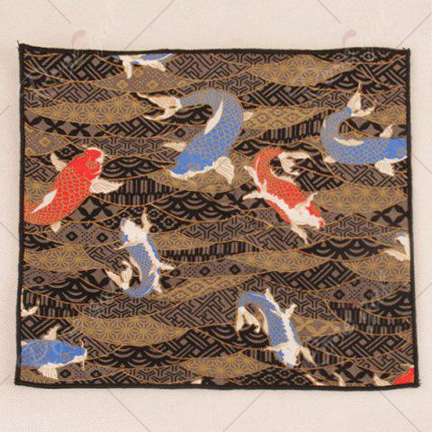 Unique Animal Pattern Embellished Handkerchief - BROWN  Mobile