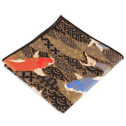 Buy Animal Pattern Embellished Handkerchief - BROWN  Mobile