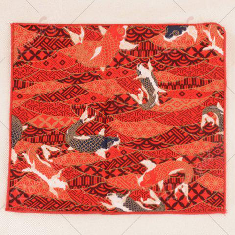 Chic Animal Pattern Embellished Handkerchief - BRIGHT ORANGE  Mobile
