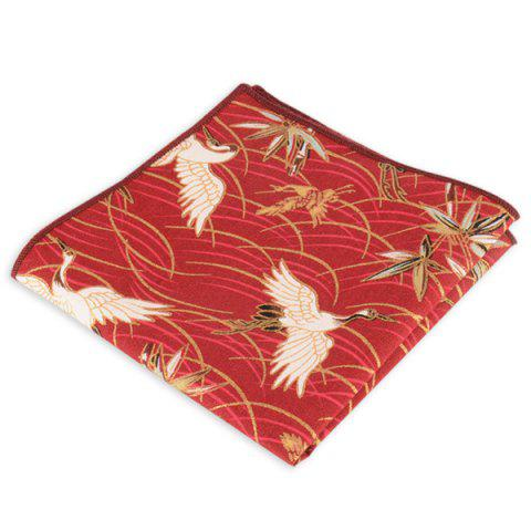 Discount Animal Pattern Embellished Handkerchief - RED  Mobile