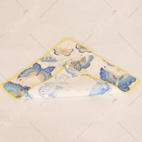 Trendy Animal Pattern Embellished Handkerchief - OFF-WHITE  Mobile