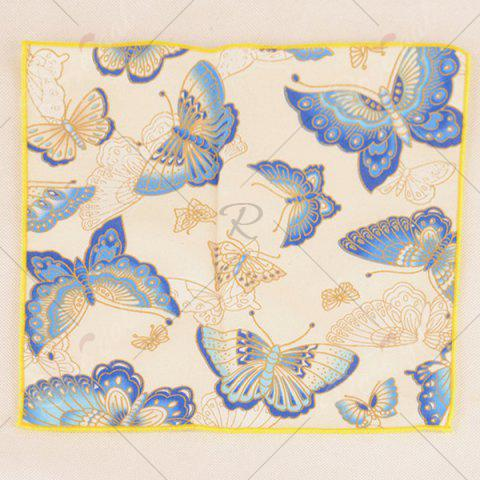 New Animal Pattern Embellished Handkerchief - OFF-WHITE  Mobile