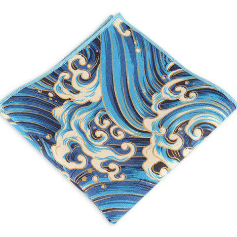 Outfits Portable Retro Ethnic Pattern Handkerchief - AZURE  Mobile
