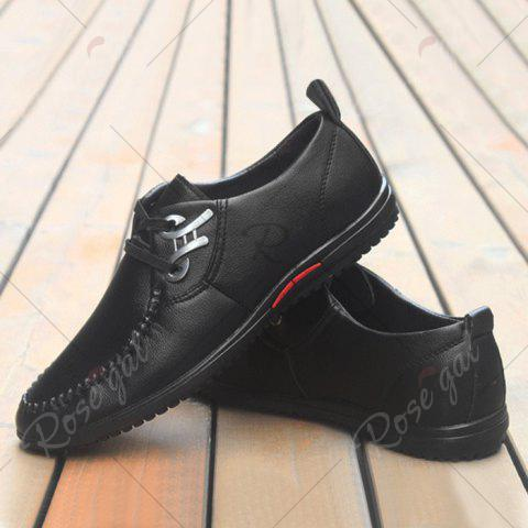 Buy Metal Embellishment Stitching Casual Shoes - 40 BLACK Mobile