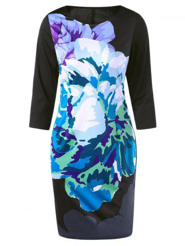 Shops Colorful Ink Printing Sheath Dress - M COLORMIX Mobile