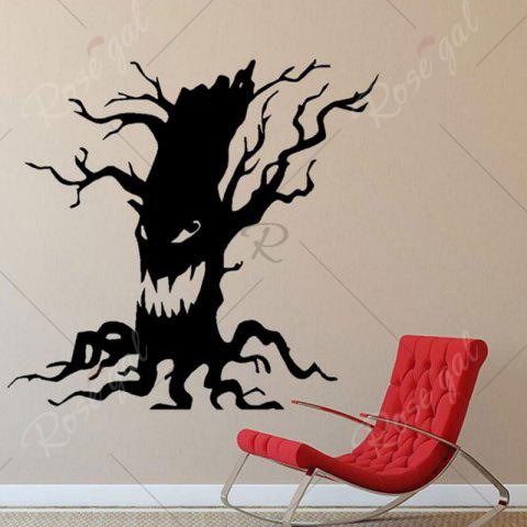 Latest Removable Halloween Ghost Tree Wall Sticker - BLACK  Mobile