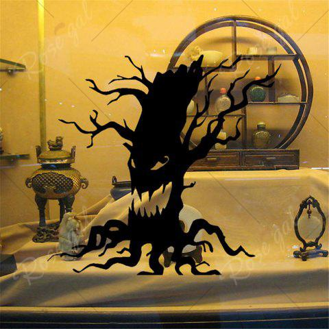 Trendy Removable Halloween Ghost Tree Wall Sticker - BLACK  Mobile