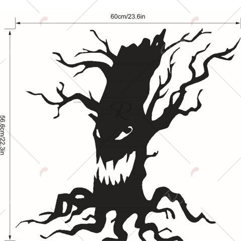 Shop Removable Halloween Ghost Tree Wall Sticker - BLACK  Mobile