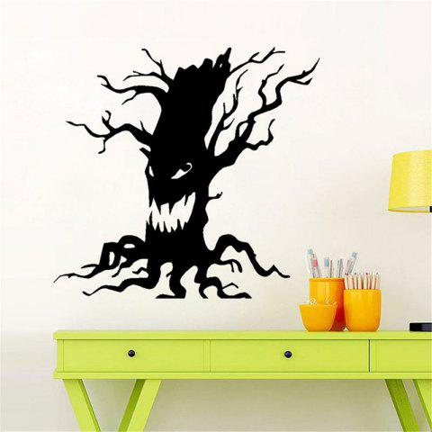 Online Removable Halloween Ghost Tree Wall Sticker - BLACK  Mobile