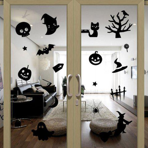 Unique DIY Halloween Decoration Wall Stickers - BLACK  Mobile