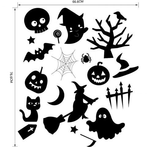 Fancy DIY Halloween Decoration Wall Stickers - BLACK  Mobile